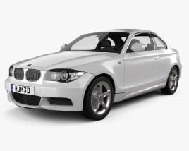 3D model of BMW 1 Series coupe with HQ interior 2007