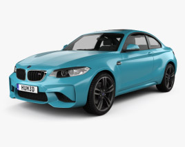 3D model of BMW 2 Series M2 (F87) coupe 2015