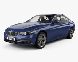 3D model of BMW 3 Series (F30) Sport Line 2015