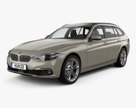 3D model of BMW 3 Series (F31) Touring Luxury Line 2015