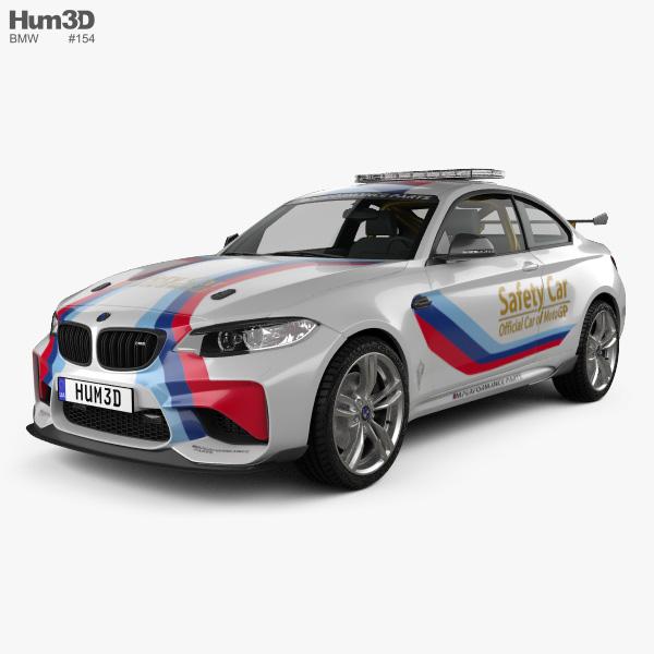 3D model of BMW M2 (F22) Coupe MotoGP Safety Car 2016