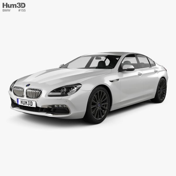 3D model of BMW 6 Series Gran Coupe (F06) 2015