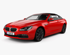 3D model of BMW 6 Series (F12) Convertible 2015