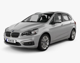 3D model of BMW 2 Series (F45) Active Tourer Electrical 2016