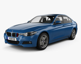 3D model of BMW 3 Series (F30) M Sport 2015