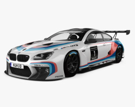 3D model of BMW M6 (F13) Coupe GT3 2016