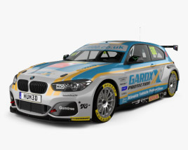 3D model of BMW 1 Series BTCC 2016