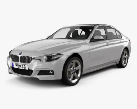 3D model of BMW 3 Series (F30) E 2016