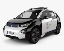 3D model of BMW i3 Police LAPD 2016
