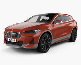 3D model of BMW X2 concept 2016