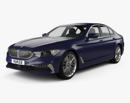 3D model of BMW 5 Series (G30) Luxury Line 2017