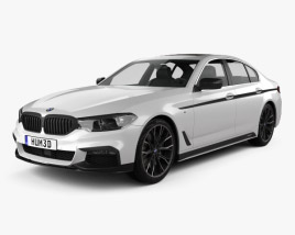 3D model of BMW 5 Series (G30) M Performance Parts 2017