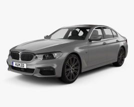 3D model of BMW 5 Series (G30) M Sport 2017