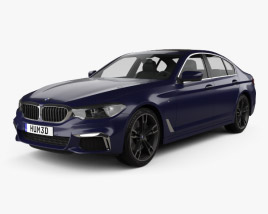 3D model of BMW 5 Series (G30) M Performance 2017