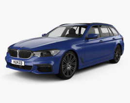 3D model of BMW 5 series G31 touring M-Sport 2017
