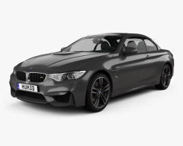 3D model of BMW M4 (F83) convertible 2014