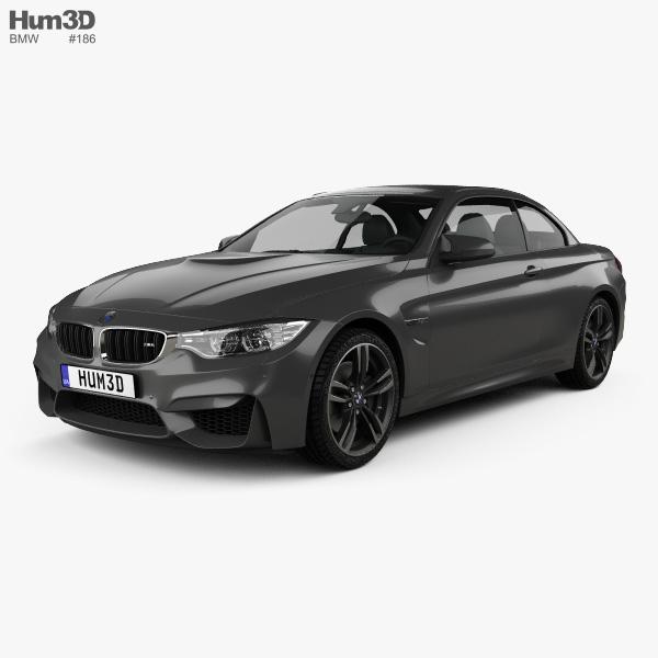 3D model of BMW M4 (F83) convertible 2014