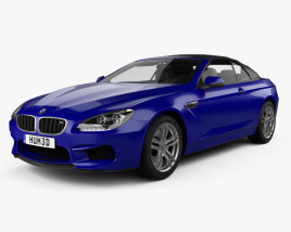3D model of BMW M6 (F12) convertible 2012