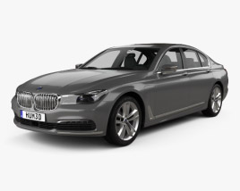 3D model of BMW 7 series (G12) Le 2015