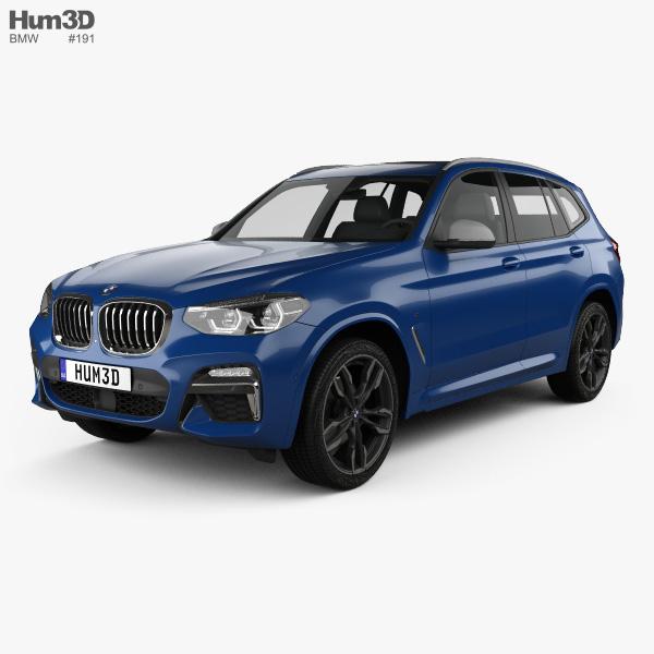 3D model of BMW X3 M (G01) 2018
