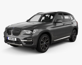 3D model of BMW X3 (G01) xLine 2018