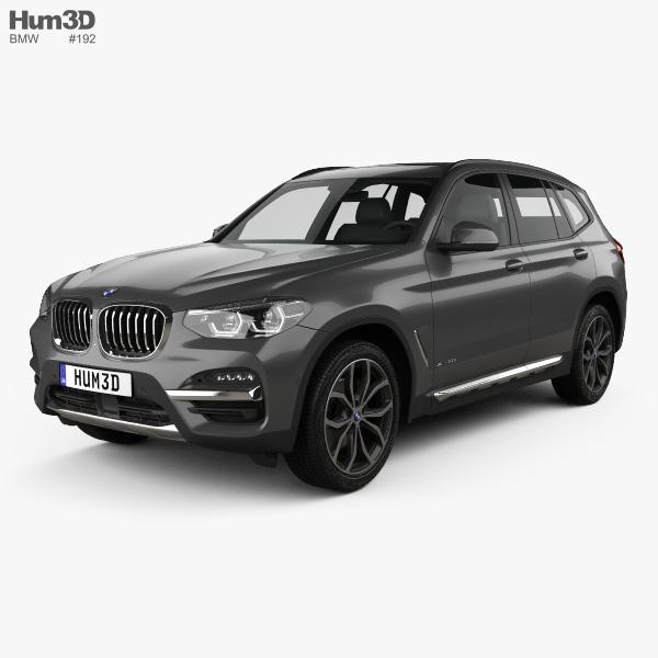 3D model of BMW X3 (G01) xLine 2018