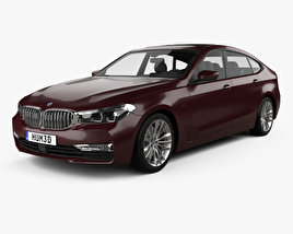 3D model of BMW 6 Series (G32) Gran Turismo Luxury Line 2017