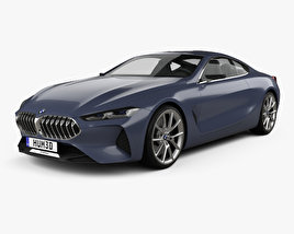 3D model of BMW 8 Series 2017