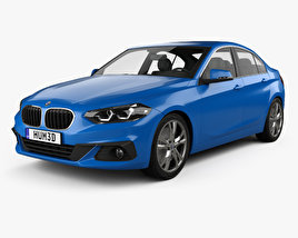 3D model of BMW 1 Series (F52) Sport Line sedan 2017
