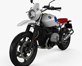 3D model of BMW R nineT Urban GS 2017