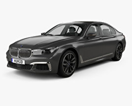 3D model of BMW M7 (G12) with HQ interior 2017