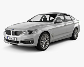 3D model of BMW 3 Series Gran Turismo Luxury Line 2018
