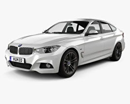 3D model of BMW 3 Series Gran Turismo M Sport 2018