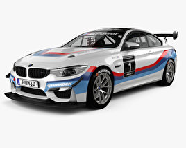 3D model of BMW M4 (F82) GT4 coupe 2017