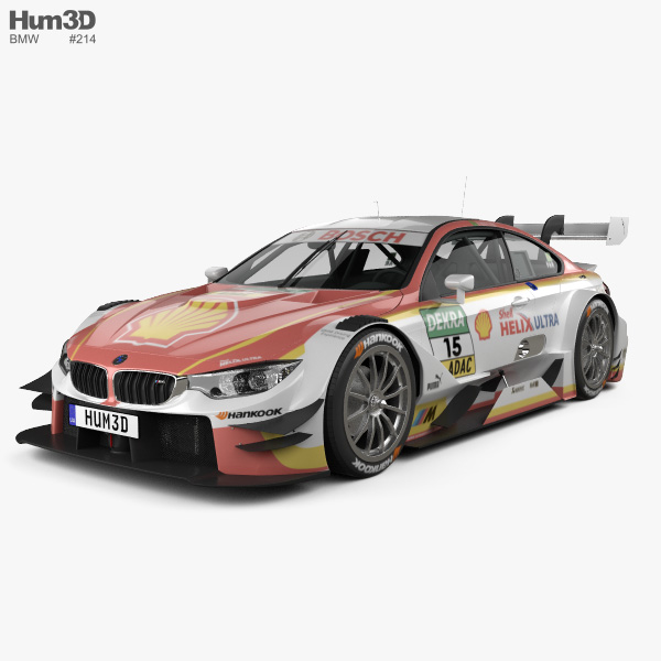 3D model of BMW M4 (F82) DTM Shell 2017