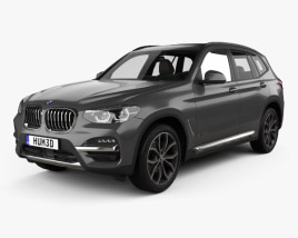 3D model of BMW X3 (G01) xLine with HQ interior 2018