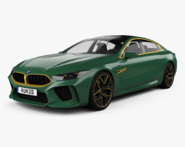 3D model of BMW M8 Gran Coupe 2018