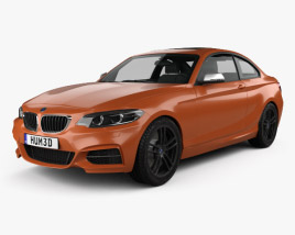 3D model of BMW 2 Series (F22) M240i coupe 2017