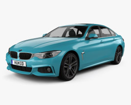 3D model of BMW 4 Series (F36) M-sport Gran Coupe 2017