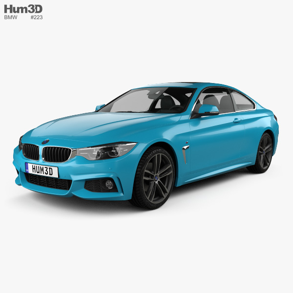 3D model of BMW 4 Series (F82) M-sport coupe 2017