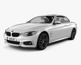 3D model of BMW 4 Series (F83) M-sport convertible 2017