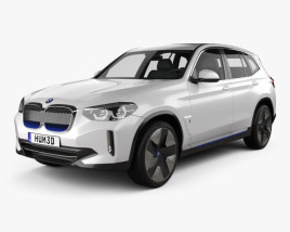 3D model of BMW iX3 2018