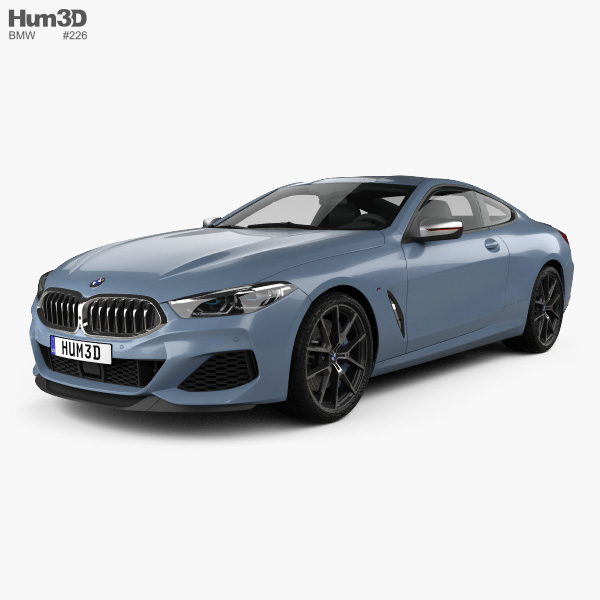 3D model of BMW 8 Series (G15) M850i coupe 2019