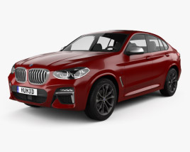 3D model of BMW X4 M sport (G02) 2019
