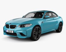 3D model of BMW M2 (F87) coupe with HQ interior 2015