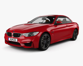 3D model of BMW M4 (F83) convertible with HQ interior 2014