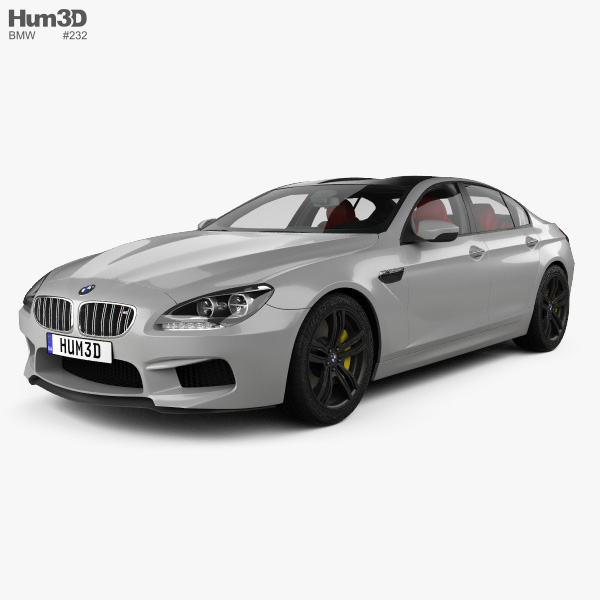 3D model of BMW M6 Gran Coupe (F06) with HQ interior 2013