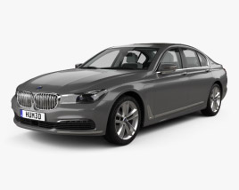 3D model of BMW 7 series (G12) Le with HQ interior 2015