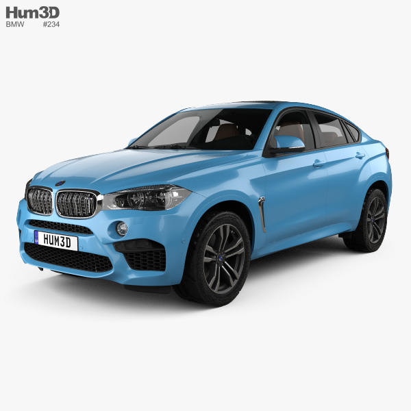 3D model of BMW X6 M with HQ interior 2015