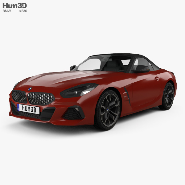 3D model of BMW Z4 M40i (G29) First Edition roadster 2019